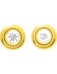 Boucles d'oreilles zirconium or375 jaune