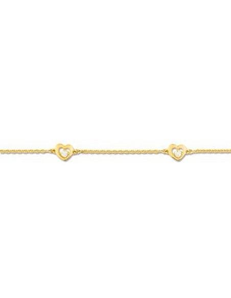 Bracelet Plaqué Or et Oxyde