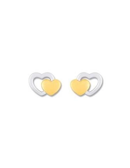 Boucles d'oreille plaquée or