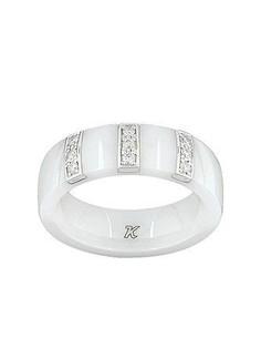 Bague Céramique et Diamant